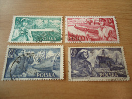 Polen: 4 Werte Seefahrt - 1944-.... Republik