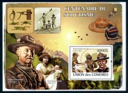 Comores Comoros 2008 Scout, Scouting, Birds, Baden Powel (M/S) MNH ** - Comores (1975-...)