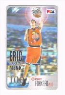 """FILIPPINE (PHILIPINNES) - PLDT (CHIP) - PBA BASKETBALL STARS: ERIC MENK """"MAJOR PAIN""""  - USED  -  RIF.  8978 - Filippine"""
