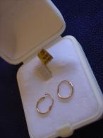 * BOUCLES D' OREILLES-CRÉOLES Pour ENFANTS ,OR JAUNE 18 Carats * - Earrings