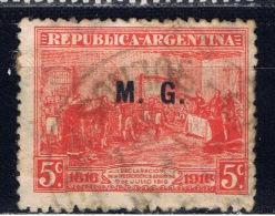 RA+ Argentinien 1916 Mi 191 M.G. Dienstmarke - Service