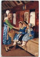 Folklore De Bretagne - Groupe D´enfants Et Jeune Fille De PLOUGASTEL-DAOULAS - écrite Et Timbrée - 2 Scans - Plougastel-Daoulas