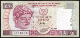 Cyprus 5 POUNDS 1.2.2001 P 61 ( Chipre, Zypern,  Chypre) - Chipre