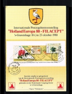 1988 - Netherlands Card NVPH 1414 - Exhibitions - Philatelic Exhibition - Holland Europa 88 - Filacept [D16_635] - Period 1980-... (Beatrix)