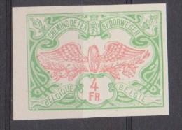 """Belgique Essai : TR 45 *** """"Roue Ailée"""" ND - 1913 - Proofs & Reprints"""