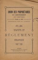 Union Des Propriétaires De L'arrondissement De Verviers 18 Pages Vers 1890 - Libros, Revistas, Cómics