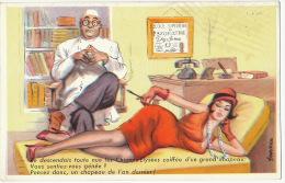 Alieniste Psychiatre Folie Divan Femme Sexy : Je Descendais Toute Nue Le Champs Elysées Signée L. Carriere - Santé