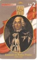 Nº134  TARJETA DE MALTA DE GRAND MASTER  EMANUEL DE ROHAN POLDUC - Malta