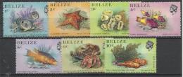 Belize 1984, Fauna Marina (**), 7 Valori Di 16 - Belize (1973-...)