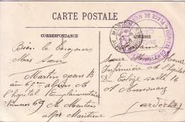 ALPES MARITIMES - HOPITAL COMPLEMENTAIRE N°69 - PLACE DE MENTON - LE MEDECIN CHEF - 27-6-1915. - Poststempel (Briefe)