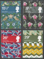 Great Britain. 1982 British Textiles. Used Complete Set. SG 1192-1195 - 1952-.... (Elizabeth II)