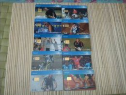 Lot 10 Cards Sport Belgium