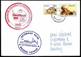 """ANTARCTIC, GERMANY, M/V """" POLAR QUEEN"""" Exp.GeoMaud,Cape Town 6.12.1995, 2 Cachets, Look Scan !! 25.11-13 - Antarctische Expedities"""