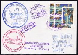 """ANTARCTIC, GERMANY, M/V """" POLAR QUEEN"""" Exp.GeoMaud,Novod. 20.11.1995, 5 Cachets, Look Scan !! 25.11-16 - Antarctische Expedities"""