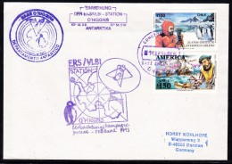 ANTARCTIC, GERMANY,First Day ERS/VLBI-Station On O'HIGGINS 1.MAR 1994, 3 Cachets, Look Scans !! 25.11-18 - Antarctische Expedities