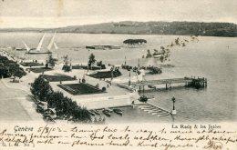 SWITZERLAND  - GENEVE - La Rade & Les Jetees - Vignatte - Very Good Postmarks 1903 - GE Genève