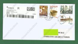 2015 SPAIN ESPANA SPANIEN ESPAGNE - REGISTERED POSTAL USED COVER TO DUBAI UAE Emirates Arabes Arabische Emirate As Scan - 1931-Hoy: 2ª República - ... Juan Carlos I