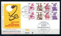3775 - BUND - Markenheftchenblatt MHBl.25, Unfallverh�tung, auf Ersttagsbrief (FDC)