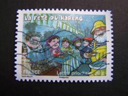 OBLITERE FRANCE ANNEE 2011 N°571 FETES ET TRADITIONS DE NOS REGIONS FETE DU HARENG EN HAUTE NORMANDIE - France