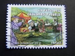 OBLITERE FRANCE ANNEE 2011 N°573 FETES ET TRADITIONS DE NOS REGIONS FETE DES CHALANDS FLEURIS A SAINT ANDRE DES EAUX - France