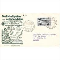 GUISPD276STV-LFTA307.Guinea Guinee.GUINEA ESPAÑOLA.Dia Del Sello.Conde De O.1949 (Ed 276*) SPD.SOBRE DEL PRIMER DIA - Guinea Spagnola