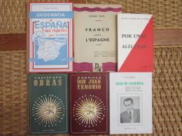 """LOT De 6 Livres """"Espagne Républicaine"""" édités Ou Diffusés Par LEE Toulouse - Paris - Culture"""