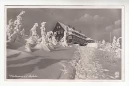 AK Heufuderbaude, Bei Bad Flinsberg, Isergebirge, Mit Landpost-Stempel1935 - Schlesien