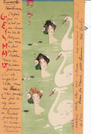 Illustrateur KIRCHNER R., Geisha, Femme Cygnes - Kirchner, Raphael