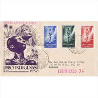 GUISPD295STV-LFT3687TCSC.Guinee,GUINEA ESPAÑOLA..SPD,DIA DEL SELLO COLONIAL  1950 (Ed 295/7º) SOBRE DEL PRIMER DIA - Culturas