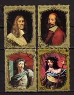 Ciad - Tchad ° - 1971/72 - Paintings - Ritratti-  Champaigne-Mignard- Vouet-Ec.Française  .  Oblitéré   Vedi Descrizione - Tschad (1960-...)