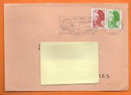 10 BAR SUR AUBE  G. BACHELARD    15 / 11 / 1985  Lettre Entière N° T 806 - Postmark Collection (Covers)