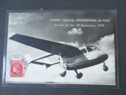 AK / Echtfoto Segelflugzeug. Cannes Festival International Du Film 1946. S.U.C. 10 Courliss. - 1946-....: Moderne