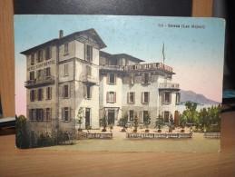 CARTOLINA STRESA LAGO MAGGIORE LAC MAJEUR HOTEL CONTINENTAL ET DE LA GARE LA STAZIONE PECCO TORINO - Italia