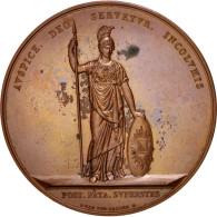 Netherlands, Utrecht 200th Anniversary, Medal, 1836, AU(55-58), Copper, 54mm - Pays-Bas