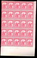 BELGIAN CONGO 1931 ISSUE ELEPHANT BLOCK OF 25 MNH