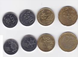 Malaysia Circulation Coins Set 2012-2015 3rd Series Handicrafts & Flora Fauna - Malaysia