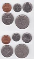 Malaysia Circulation Coins 1989-2011 2rd Series Hibuscus & Cultural Artifacts - Malasia