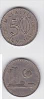 Malaysia Coin 50c  1967 Security Edge - Malaysia