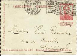 CARTE LETTRE Entier Postal - BELGIQUE - 1913 - Cachet Bruxelles Pour LODELINSART  - Préoblitérée - - Postcards [1909-34]