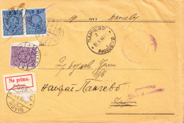 CVR RESENT BACK WITH 3 PORTO STAMPS AND REFUSE LABEL - 1931-1941 Kingdom Of Yugoslavia