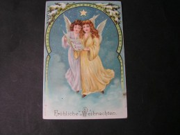 == Engel , Weinachten  *  Ca, 1900   Sehr Schöne Karte  Top - Engel