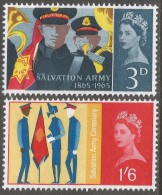 Great Britain. 1965 Salvation Army. MH Complete Set. SG 665-666 - Unused Stamps