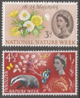 Great Britain. 1963 National Nature Week. MH Complete Set. SG 637-638 - Unused Stamps