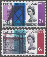 Great Britain. 1964 Opening Of Forth Road Bridge. MH Complete Set. SG 659-660 - Unused Stamps