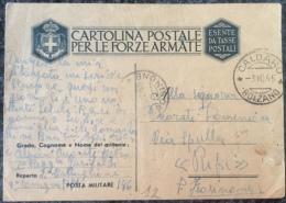 RARA 1' Rgt Garibaldi, Viaggiata In Posta Ordinaria 7/10/45 Pm196 - Guerra 1939-45