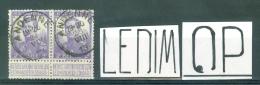 """BELGIE - OBP Nr 117 (paar/paire) - Type Pellens (ref. 74) - VARIETEIT-CURIOSITEIT (zie Tekening) - Cachet  """"ANDENNE"""" - Errors (Catalogue Luppi)"""