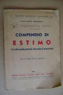 PCU/10 Biblioteca Politecnico- Zuccarelli COMPENDIO DI ESTIMO Civile - Industriale - Rurale - Catastale Ed. Giorgio 1946 - Libri, Riviste, Fumetti