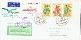 VOL-L1 - HONGRIE 1er Vol BUDAPEST-FRANCFORT Avec Correspondance Pour HAMBOURG Lufthansa 1965