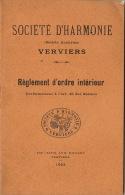 Société D´harmonie De Verviers Règlement D´ordre Intérieur 30 Pages - Livres, BD, Revues