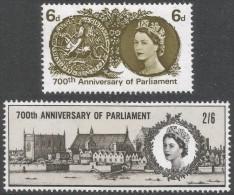 Great Britain. 1965 700 Years Of Simon De Montfort's Parliament. MH Complete Set. SG 663-664 - Unused Stamps